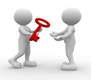 sleutel van contact maken