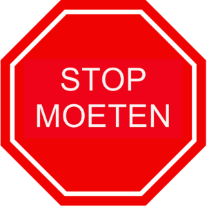 stop moeten
